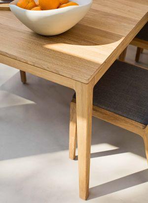 Tavolo allungabile mylon in legno naturale massello