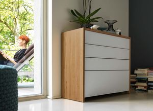 lunetto dresser made of solid wood