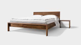 Letto lunetto in legno di noce
