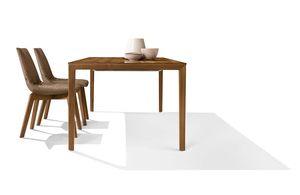 Tavolo tak con piedi in legno