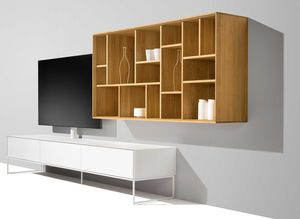 graphic Gestaltungselement in Eiche mit cubus pure Wohnwand von TEAM 7