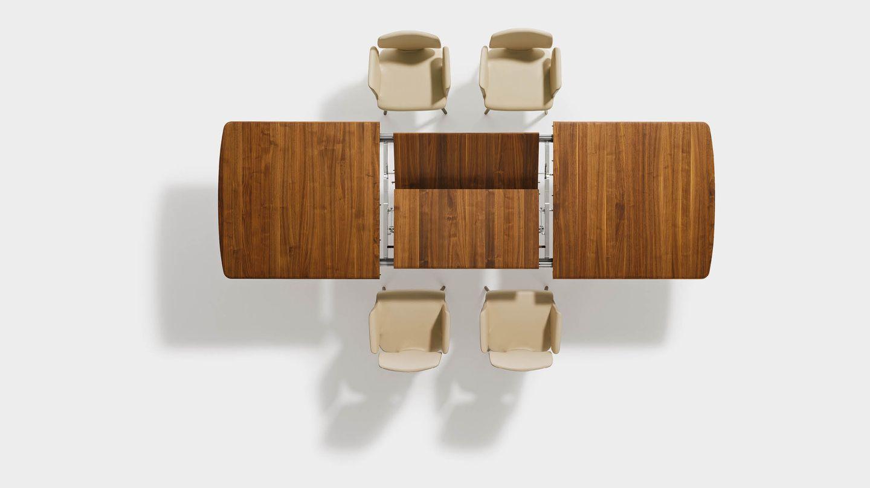 Tavolo flaye contemporaneo in legno naturale