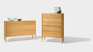 mylon dresser in two versions in oak