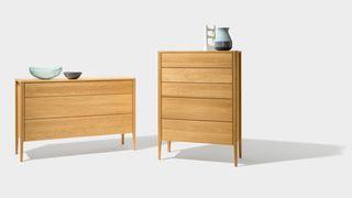 mylon dresser in two versions in oak