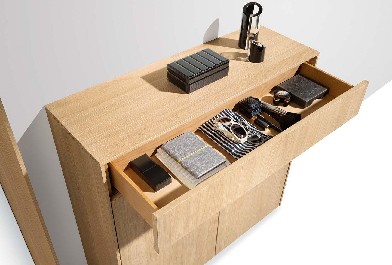 meuble de vestibule filigno en chêne huile blanche