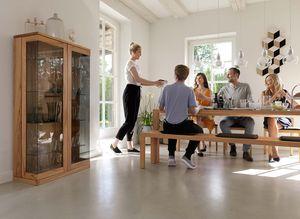Ensemble de salle à manger loft en bois naturel