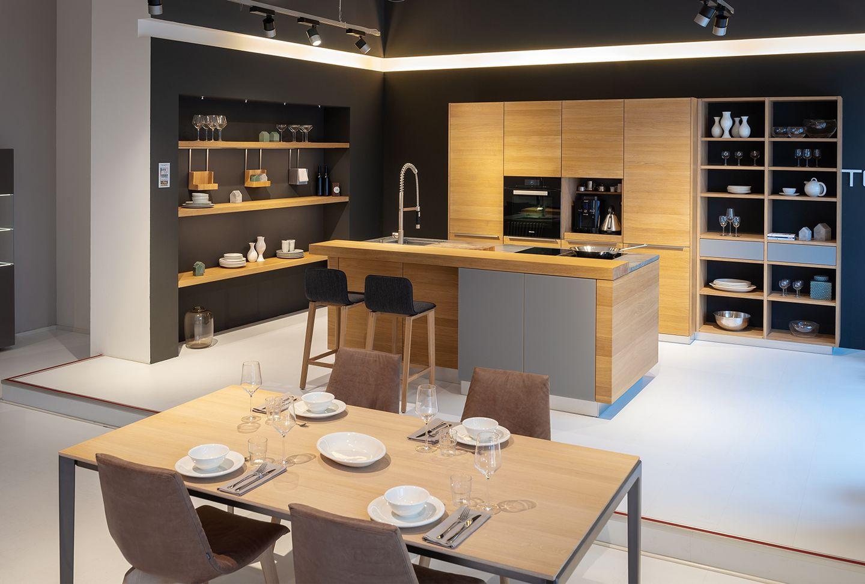 Küche Naturholz und tak Tisch TEAM 7 Hamburg Altona