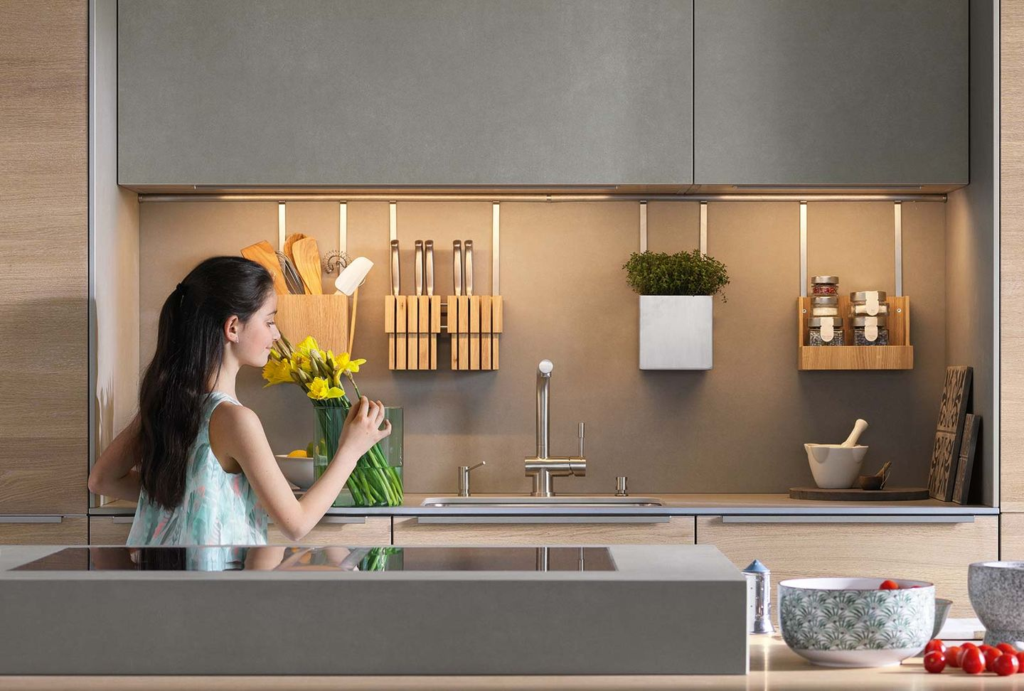 filigno kitchen with ceramic fronts
