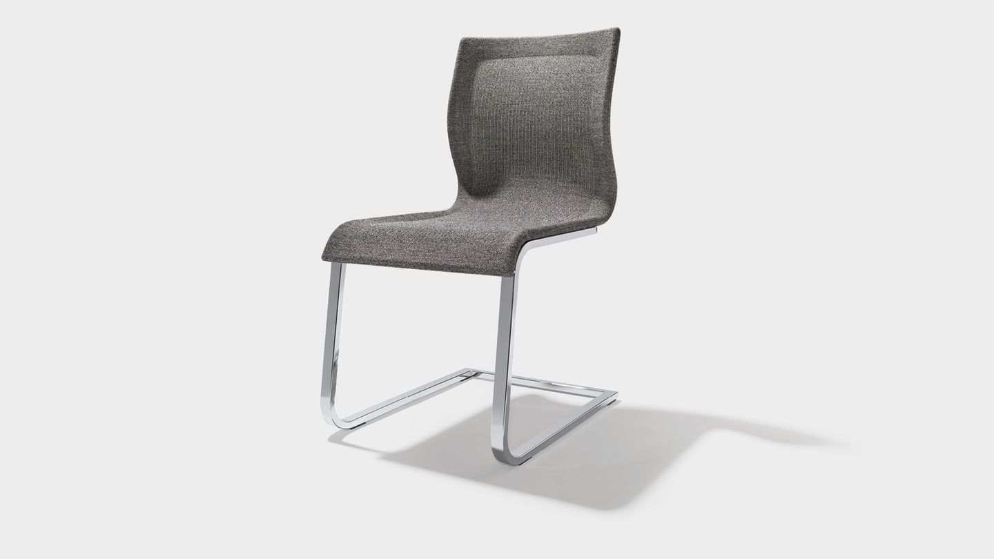 magnum chair Stricktex in flecked medium grey by TEAM 7