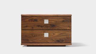 nox bedside cabinet in walnut