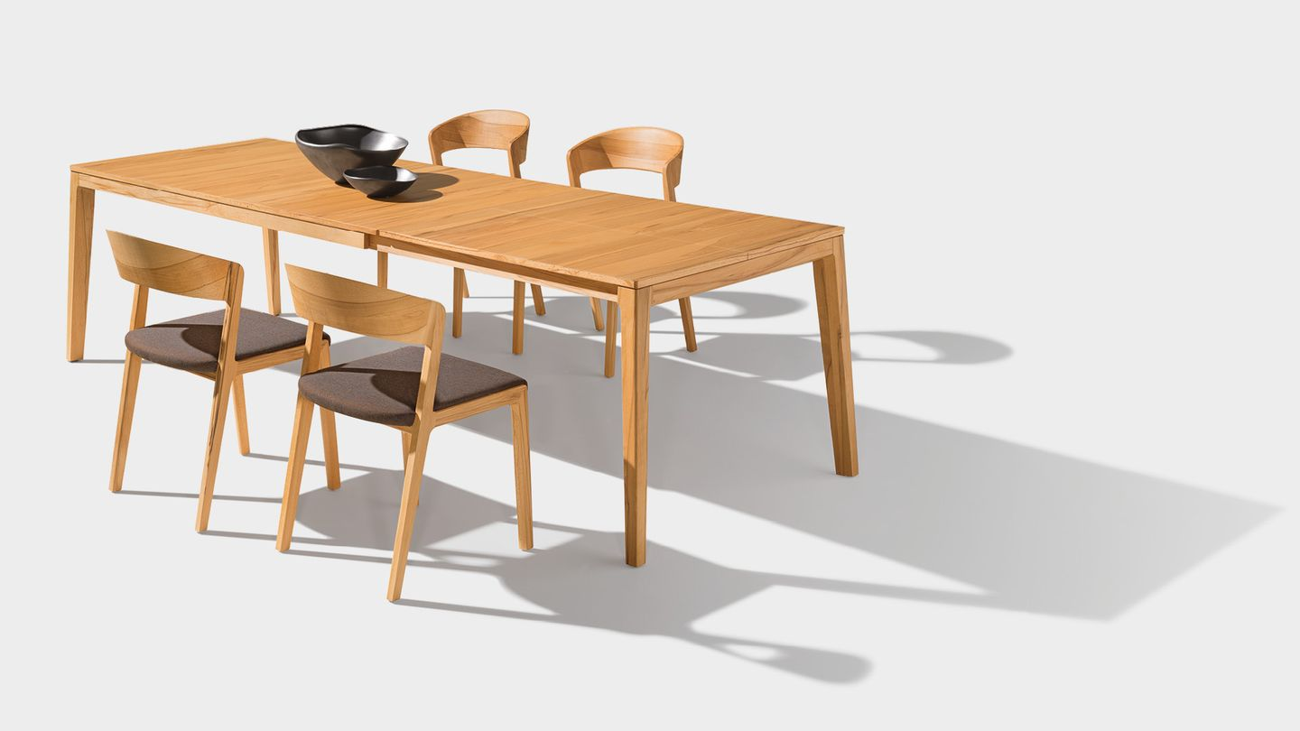 mylon extendable table in beech heartwood from TEAM 7