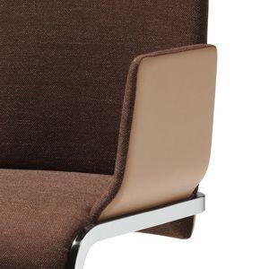 Chaise cantilever f1 en tissu et en cuir
