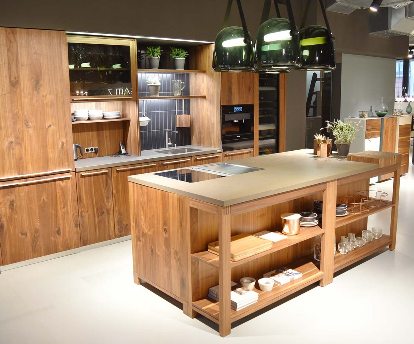loft country cottage kitchen at TEAM 7 store Hamburg City