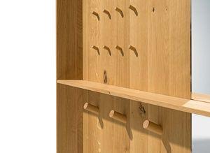 haiku entry hall with storage shelf provides space for keys, etc.