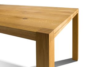 loft wooden table in solid oak