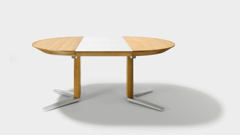Tavolo in legno tondo girado in legno naturale