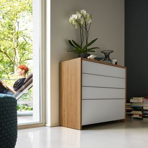 lunetto dresser in solid wood