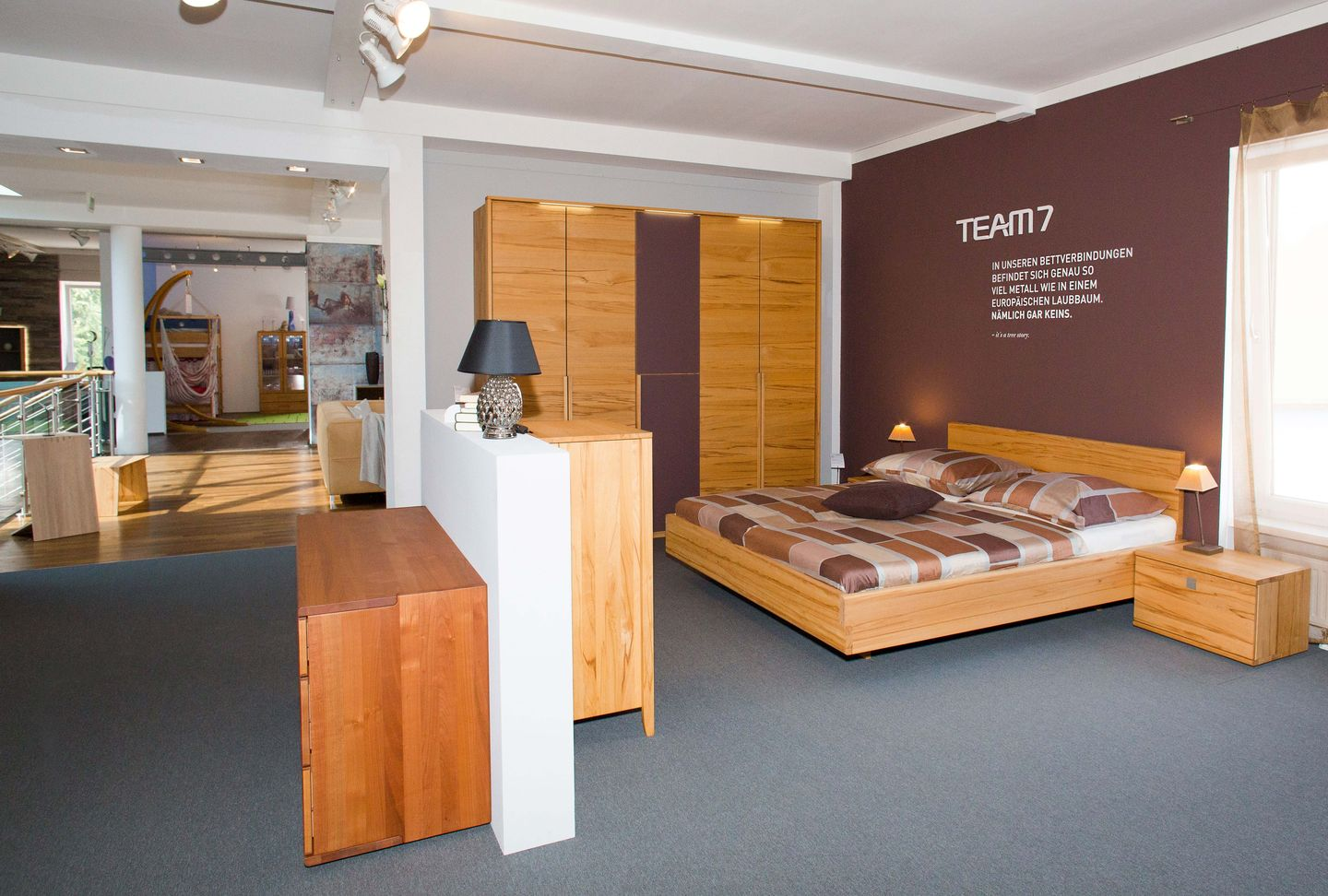 nox bed in beech heartwood TEAM 7 Salzburg