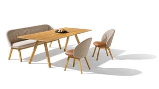 TEAM 7 taso table with flor bench and chairs