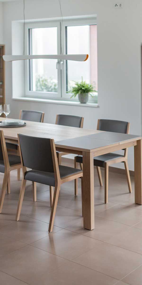 magnum Tisch mit eviva Stühlen in Eiche Weißöl von TEAM 7 München