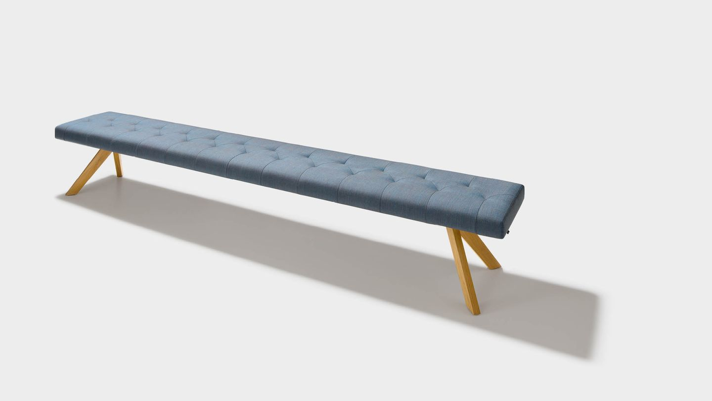 yps bench in fabric without backrest