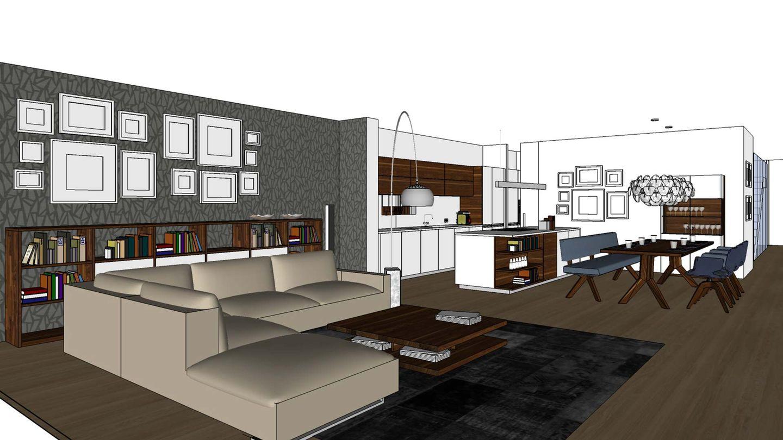 TEAM 7 Furnplan-Planungsbeispiel für den Wohn- und Essbereich