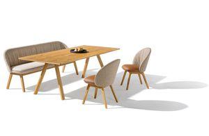 taso Tisch mit flor Bank und Stühlen von TEAM 7